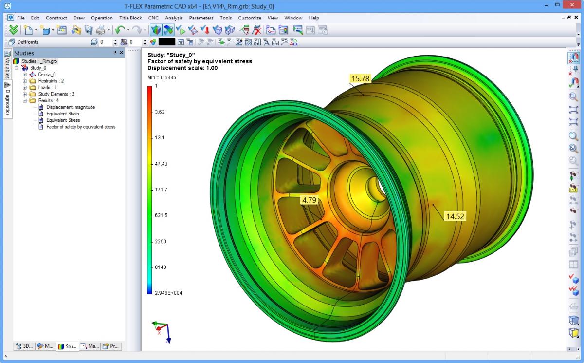 3d cad modellen voorbeelden van t flex for Fem analyse